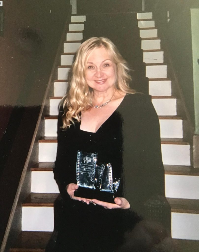 Picture of me with WIN Award